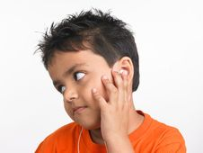 Free Boy Chilling Out Listening To Music Stock Photography - 6330212