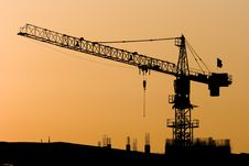Free Crane Sunset Stock Photography - 6330302