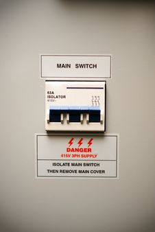 Free Electricity Circuit Breaker Box Royalty Free Stock Photography - 6330357