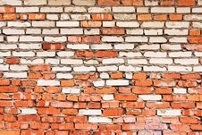 Free Red - White Brick Background Stock Images - 6330584