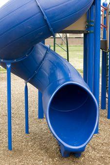 Free Winding Blue Slide Stock Images - 6330664