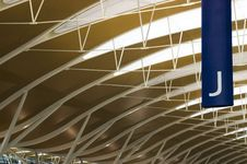 Shanghai Pudong Airport - New Terminal Royalty Free Stock Photo