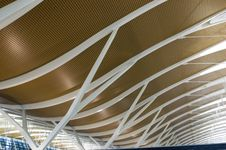 Shanghai Pudong Airport - New Terminal Royalty Free Stock Photos