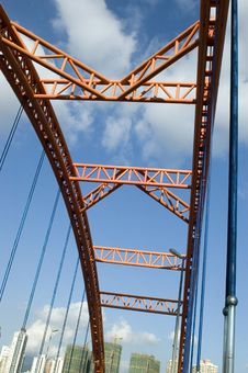 Free Modern Orange Bridge Royalty Free Stock Images - 6330769