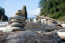 Stacked Stones Stock Photo