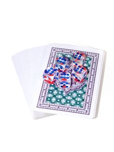 Playing Cards And Playing Bones Royalty Free Stock Photo