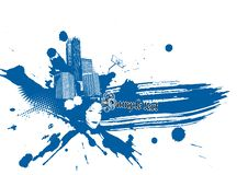 Free Abstract Illustration With City. Royalty Free Stock Images - 6330989