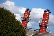 Free Two Big Chimney Of Brewery Stock Images - 6331144