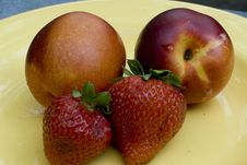 Free Strawberries And Nectarines Royalty Free Stock Image - 6331246