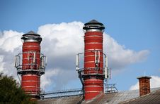 Free Two Big Chimney Of Brewery Stock Photos - 6331253