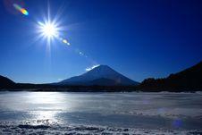 Free Mt. Fuji Over Lake Syo-ji Stock Images - 6331344
