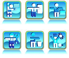 Free Icons In Blue Stock Images - 6331994