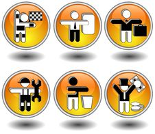 Free Icons In Yellow Stock Photos - 6332013