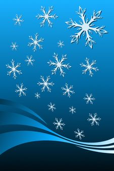 Christmas Snowflake Decoration Stock Photo