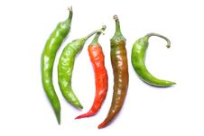 Free Hot Chili Peppers Royalty Free Stock Photography - 6332947