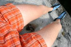Free Climber´s Legs Royalty Free Stock Images - 6333249