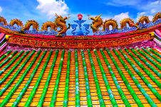 Free The Dragon Roof THAILAND Royalty Free Stock Photo - 6333255