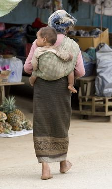 Free Asia, Old Woman With Grandchild Stock Photo - 6333420