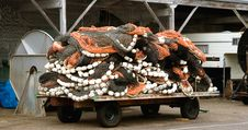 Trailer Of Fishing Nets Stock Image