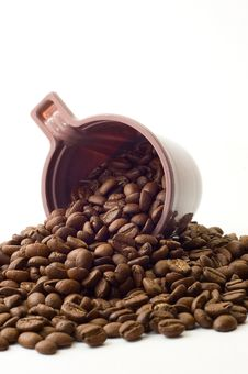Free Cup With Coffee Beans Stock Images - 6334354