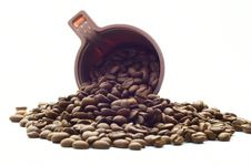 Free Cup With Coffee Beans Stock Images - 6334374