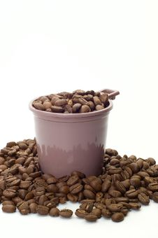 Free Cup With Coffee Beans Royalty Free Stock Photo - 6334455