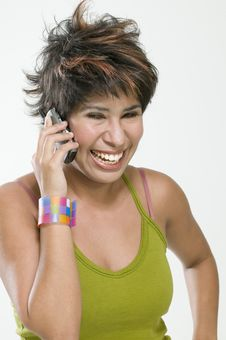 Free Woman Talking By Cell Phone Royalty Free Stock Photos - 6335518