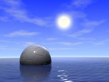 Free Football In Water Royalty Free Stock Image - 6335546