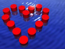Free Heart In Water Royalty Free Stock Photography - 6335647