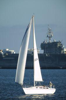 Free Sailing Boat At Sea Royalty Free Stock Photography - 6335837