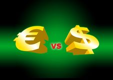 Euro Versus Dollar Stock Photo