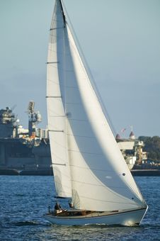Free Sailing Boat At Sea Royalty Free Stock Photo - 6336135