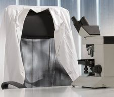 Free Microscope And White Coat Stock Images - 6337094