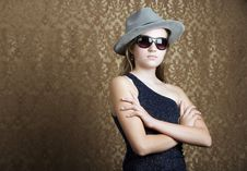 Free Young Girl Dressed In Spy Gear Stock Photos - 6337703