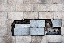 Free Wall And Hole Stock Photography - 6337912