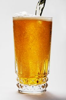 Free Ice Cool Beer Poured In To Crystal Glass Royalty Free Stock Photos - 6337938