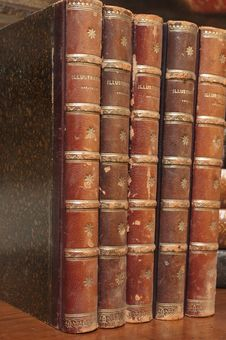 Free Stacks Of Various Antique Books Royalty Free Stock Image - 6338506