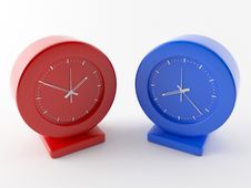 Free Two Clocks Royalty Free Stock Images - 6338609