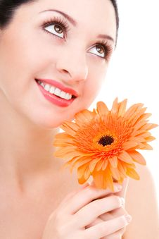 Free Young Woman With Flower Royalty Free Stock Photography - 6339097