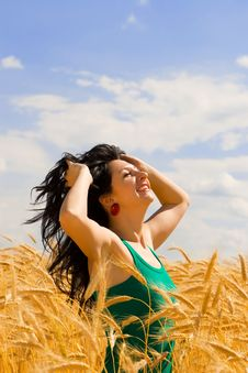 Free Woman In Golden Wheat Stock Images - 6339164