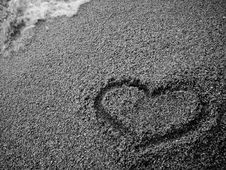 Free Sand Heart Stock Image - 6339411