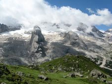 Free Marmolada Glacier Royalty Free Stock Photography - 6339427