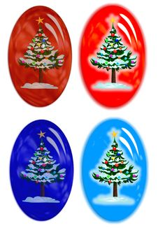 Christmas Rollovers Stock Images