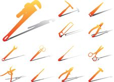 Free Set Icons - 23A. Tools Stock Photography - 6339802