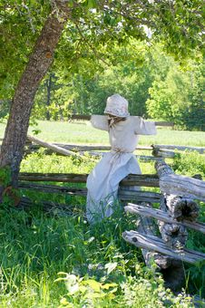 Free Scarecrow Perched On Fence Stock Photos - 6339893