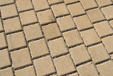 Free Patterned Paving Street Tiles Stock Photography - 63330982
