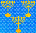 Free Metallic Blue Texture Hanukkah 2016 Stock Images - 63395154