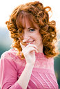 Free Im Very Bashful Young Woman. Stock Image - 6344921