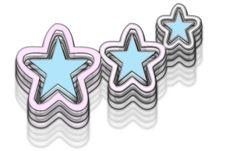 Neon Stars Stock Photo