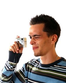 Free The Young Man With Camera Stock Image - 6340841